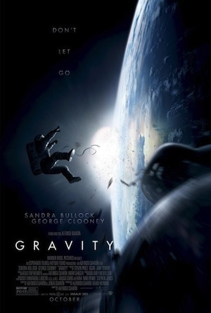 Movie poster of woman in space for Gravity