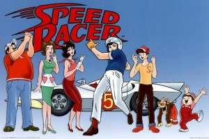 Animated cast and logo for Speed Racer anime