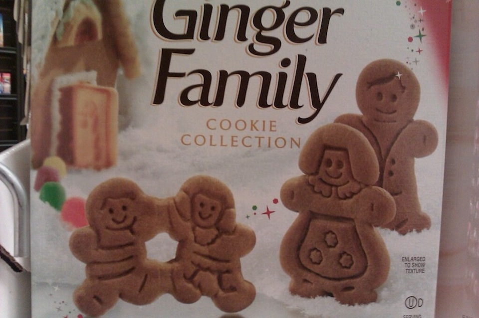 Gingerbread cookies look like conjoined twin children