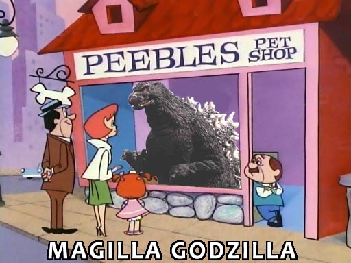 Godzilla in a pet store