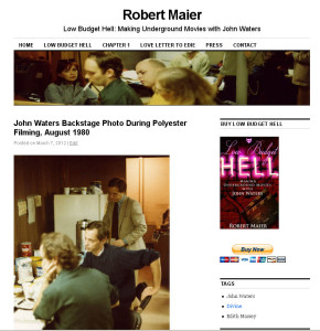 Picture of John Waters as displayed on Robert Maier's website