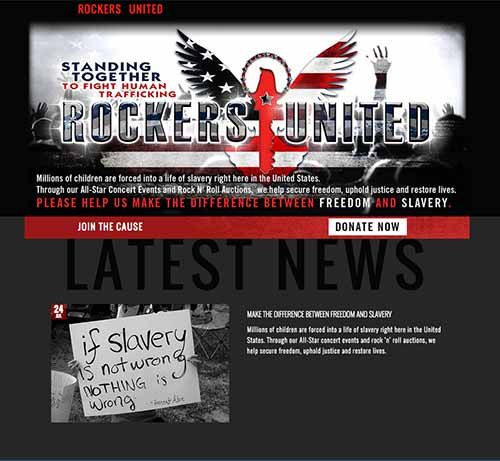 Screengrab of the Rockers United homepage